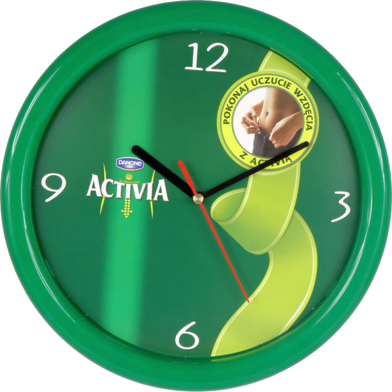 Promotional wall clock Activia 501